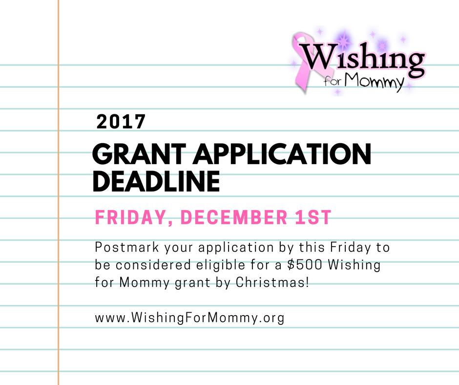 Grant Apps Due 2017